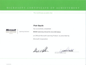 MS-6232 Implementing a Microsoft SQL Server 2008 R2 Database